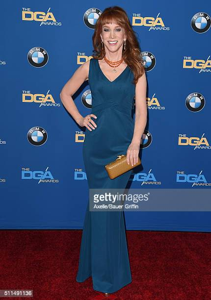 Comedian Kathy Griffin arrives at the 68th Annual Directors Guild of America Awards at the Hyatt Regency Century Plaza on February 6 2016 in Los...