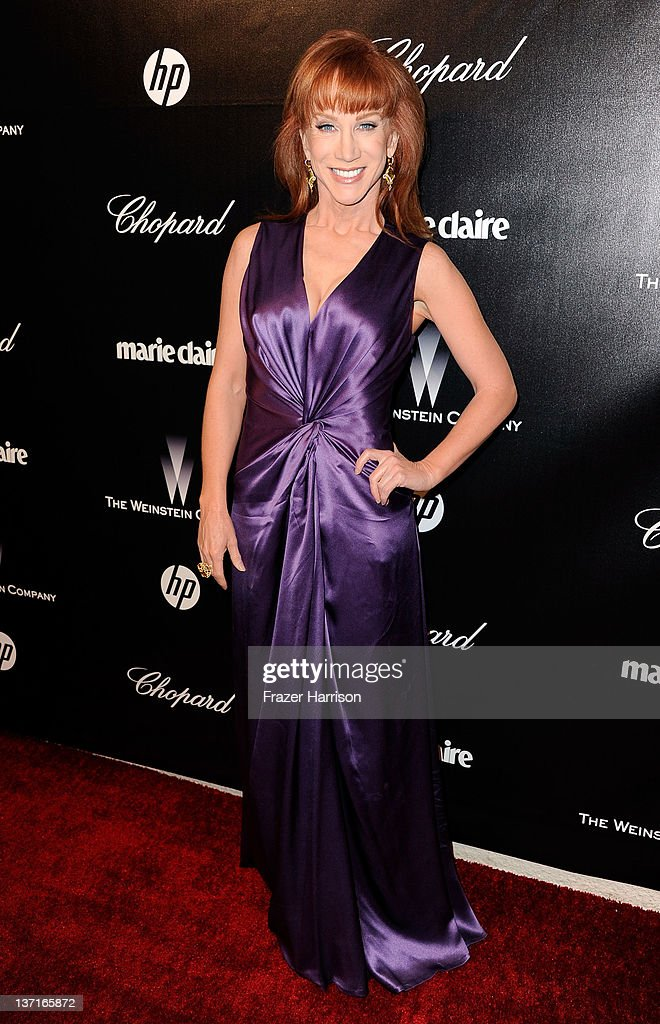 Comedian <a gi-track='captionPersonalityLinkClicked' href=/galleries/search?phrase=Kathy+Griffin&family=editorial&specificpeople=203161 ng-click='$event.stopPropagation()'>Kathy Griffin</a> arrives at The Weinstein Company's 2012 Golden Globe Awards After Party at The Beverly Hilton hotel on January 15, 2012 in Beverly Hills, California.