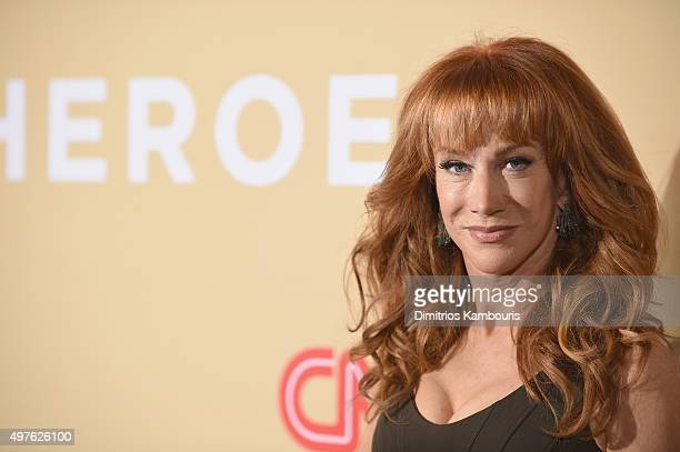 Comedian Kathy Griffin attends CNN Heroes 2015 Red Carpet Arrivals at American Museum of Natural History on November 17 2015 in New York City...