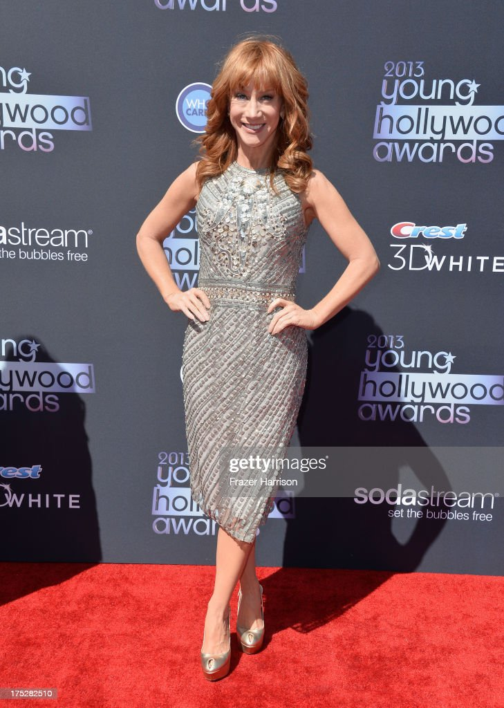 Comedian <a gi-track='captionPersonalityLinkClicked' href=/galleries/search?phrase=Kathy+Griffin&family=editorial&specificpeople=203161 ng-click='$event.stopPropagation()'>Kathy Griffin</a> attends CW Network's 2013 Young Hollywood Awards presented by Crest 3D White and SodaStream held at The Broad Stage on August 1, 2013 in Santa Monica, California.