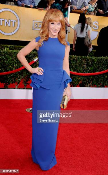 Comedian Kathy Griffin attends the 20th Annual Screen Actors Guild Awards at The Shrine Auditorium on January 18 2014 in Los Angeles California