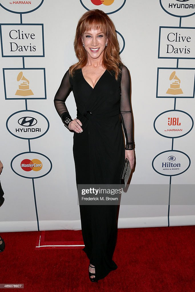 Comedian Kathy Griffin attends the 56th annual GRAMMY Awards Pre-GRAMMY Gala and Salute to Industry Icons honoring Lucian Grainge at The Beverly Hilton on January 25, 2014 in Beverly Hills, California.