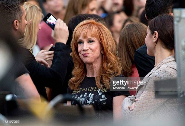 Comedian Kathy Griffin attends the Backstreet Boys' performance at the 2013 Grove Summer Concert Series at The Grove on July 31 2013 in Los Angeles...
