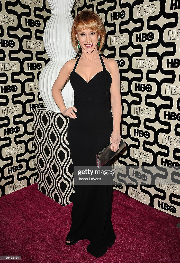 Comedian Kathy Griffin attends the HBO after party at the 70th annual Golden Globe Awards at Circa 55 restaurant at the Beverly Hilton Hotel on January 13, 2013 in Los Angeles, California.