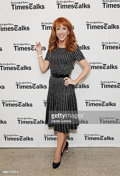 Comedian Kathy Griffin attends TimesTalk Presents an Evening With Kathy Griffin at Merkin Concert Hall on November 11 2015 in New York City