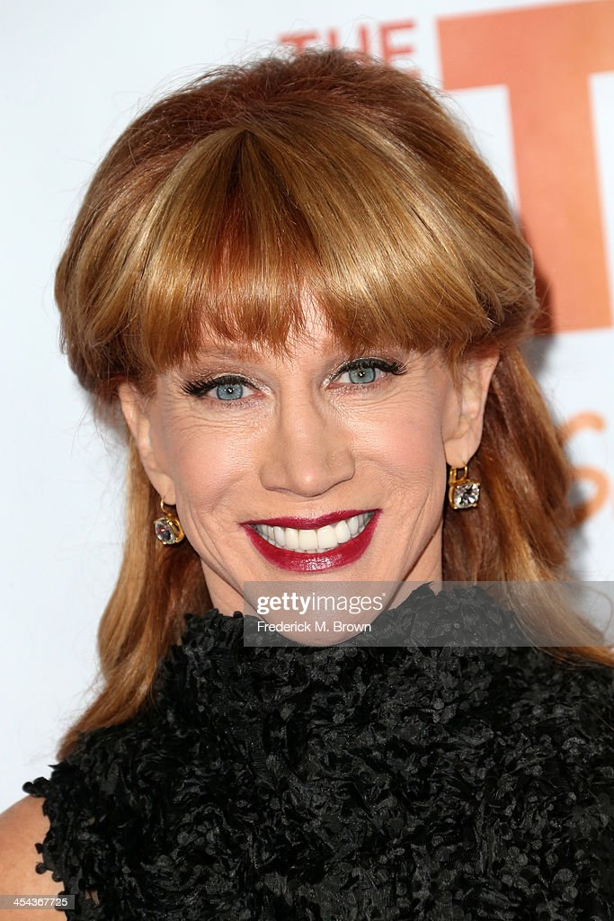 Comedian <a gi-track='captionPersonalityLinkClicked' href=/galleries/search?phrase=Kathy+Griffin&family=editorial&specificpeople=203161 ng-click='$event.stopPropagation()'>Kathy Griffin</a> attends 'TrevorLIVE LA' honoring Jane Lynch and Toyota for the Trevor Project at Hollywood Palladium on December 8, 2013 in Hollywood, California.