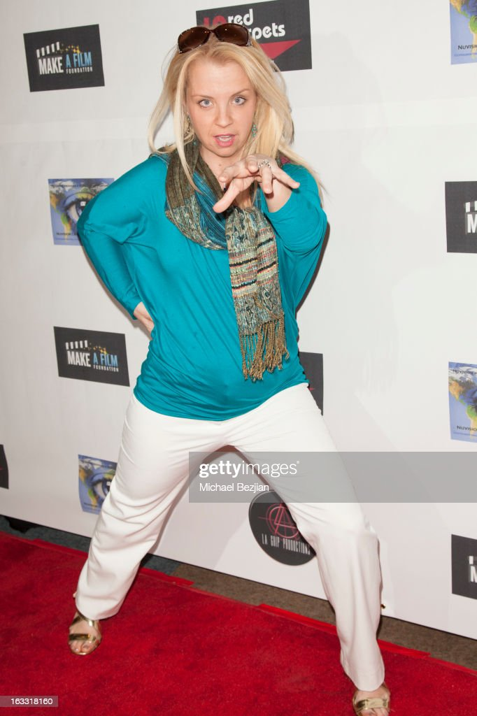 Comedian Keri Pomarolli attends Make A Film Foundation's 'Kidz 4 Kidz' Comedy 4 A Cau$e Benefit Show at Writers Guild Theater on March 7, 2013 in Beverly Hills, California.
