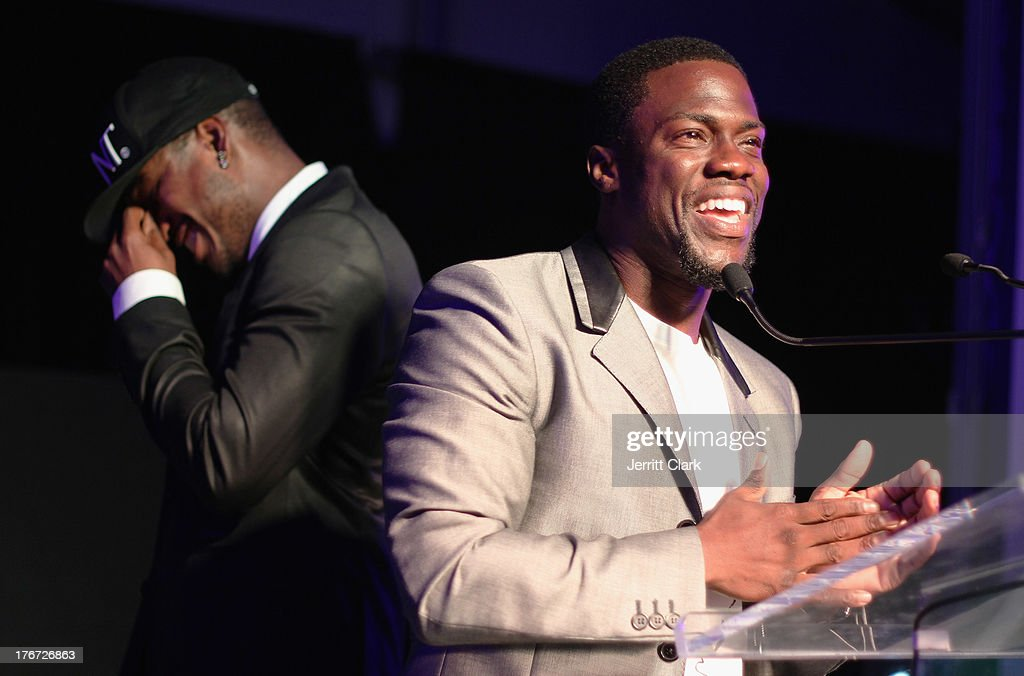 Comedian Kevin Hart and <a gi-track='captionPersonalityLinkClicked' href=/galleries/search?phrase=Ne-Yo&family=editorial&specificpeople=451543 ng-click='$event.stopPropagation()'>Ne-Yo</a> host the 2nd annual Compound Foundation Fostering A Legacy Benefit on August 17, 2013 in East Hampton, New York.