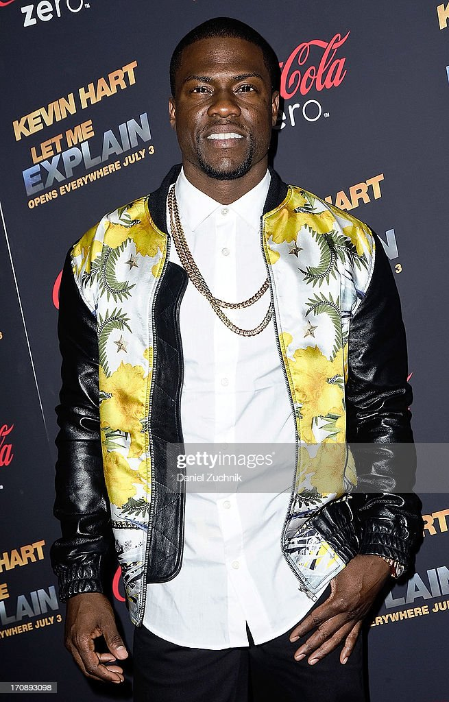 Comedian <a gi-track='captionPersonalityLinkClicked' href=/galleries/search?phrase=Kevin+Hart+-+Actor&family=editorial&specificpeople=4538838 ng-click='$event.stopPropagation()'>Kevin Hart</a> attends the '<a gi-track='captionPersonalityLinkClicked' href=/galleries/search?phrase=Kevin+Hart+-+Actor&family=editorial&specificpeople=4538838 ng-click='$event.stopPropagation()'>Kevin Hart</a>:Let Me Explain' New York Premiere at Regal Cinemas Union Square on June 19, 2013 in New York City.