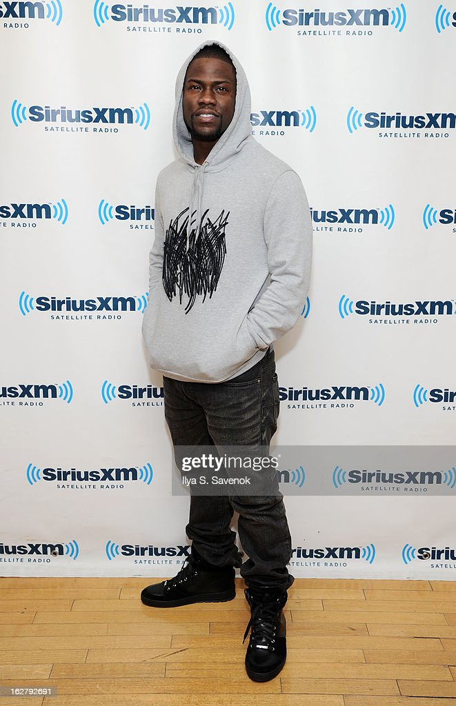 Comedian <a gi-track='captionPersonalityLinkClicked' href=/galleries/search?phrase=Kevin+Hart+-+Actor&family=editorial&specificpeople=4538838 ng-click='$event.stopPropagation()'>Kevin Hart</a> visits the SiriusXM Studios on February 27, 2013 in New York City.