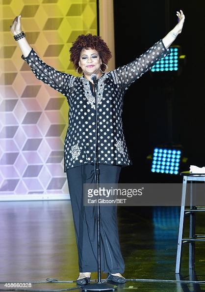 Comedian Kim Coles speaks onstage during Centric Presents The Soul Train Review at The Orleans Showroom at The Orleans Hotel Casino on November 8...
