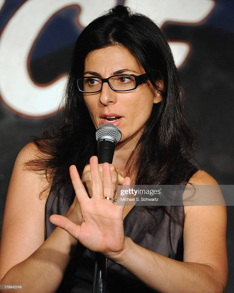 Comedian Kira Soltanovich performs during her appearance at The Ice House Comedy Club on July 11, 2013 in Pasadena, California.
