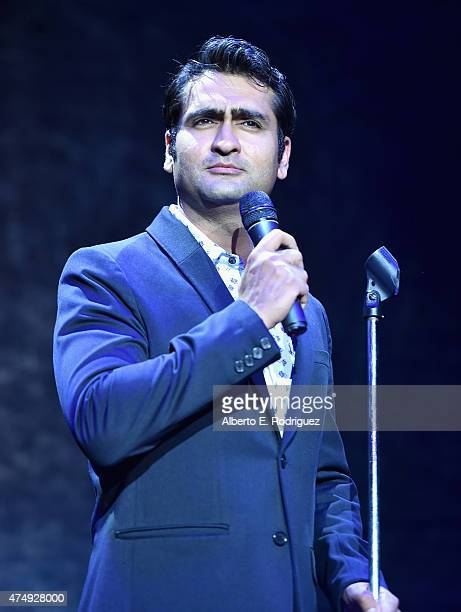 Comedian Kumail Nanjiani attends The Alliance For Children's Rights' Right To Laugh Benefit at The Avalon on May 27 2015 in Hollywood California