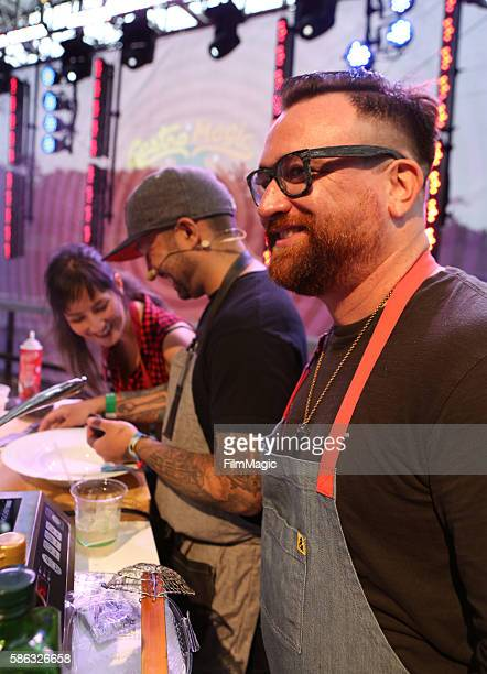 Comedian Kyle Kinane attends the Bay Area Hipster Chef Roast on the GastroMagic Stage during the 2016 Outside Lands Music And Arts Festival at Golden...