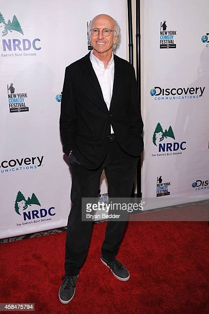 Comedian Larry David attends NRDC's 'Night Of Comedy' benefiting the Natural Resources Defense Council at 583 Park Ave on November 5 2014 in New York...