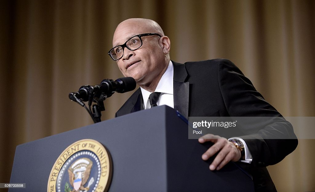 Comedian Larry Wilmore speaks during the White House Correspondents' Association annual dinner on April 30, 2016 at the Washington Hilton hotel in Washington.This is President Obama's eighth and final White House Correspondents' Association dinner