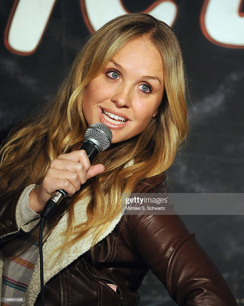 Comedian Lauren O'Brien performs during her appearance at The Ice House Comedy Club on January 3, 2013 in Pasadena, California.