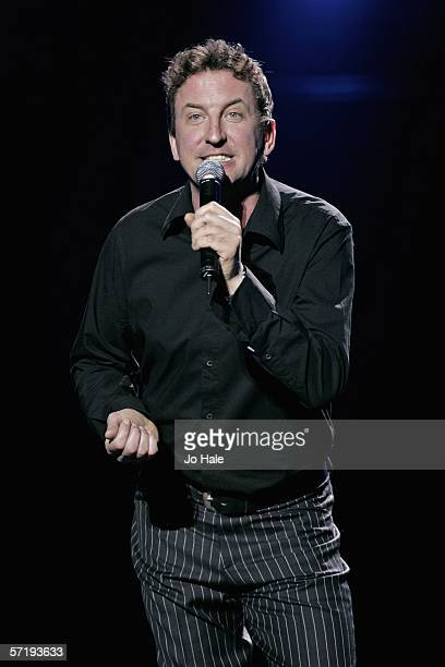 Comedian Lee Mack performs on stage on the first night of a series of concerts and events in aid of Teenage Cancer Trust organised by charity Patron...
