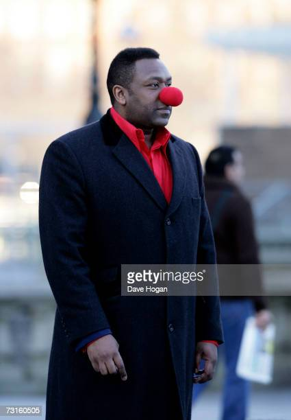 Comedian Lenny Henry attends a photocall to launch this year's Comic Relief charity events at the British Airways London Eye on January 31 2007 in...