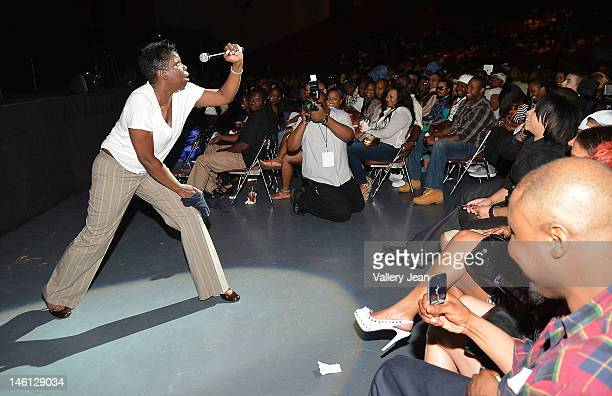 Comedian Leslie 'Big Les' Jones performs during the 5th Annual Memorial Weekend Comedy Festival at James L Knight Center on May 27 2012 in Miami...