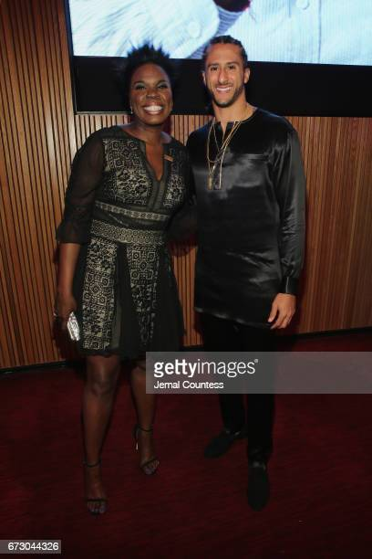 Comedian Leslie Jones and Colin Kaepernick attend the 2017 Time 100 Gala at Jazz at Lincoln Center on April 25 2017 in New York City