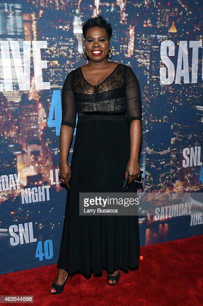 Comedian Leslie Jones attends SNL 40th Anniversary Celebration at Rockefeller Plaza on February 15 2015 in New York City