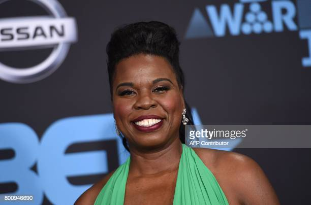 Comedian Leslie Jones poses upon her arrival at the BET Awards ceremony on June 25 in Los Angeles California / AFP PHOTO / CHRIS DELMAS