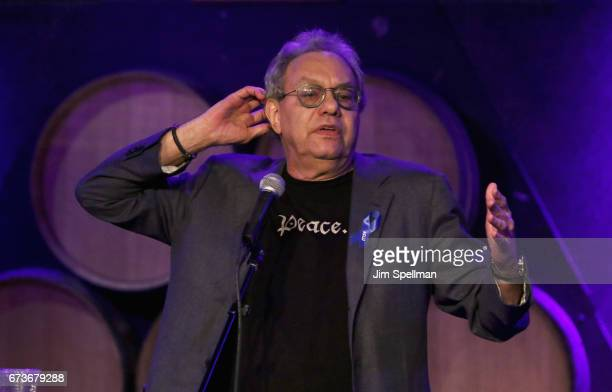 Comedian Lewis Black attends the Aasif Mandvi Friends AllStar Deportation Jamboree at City Winery on April 26 2017 in New York City