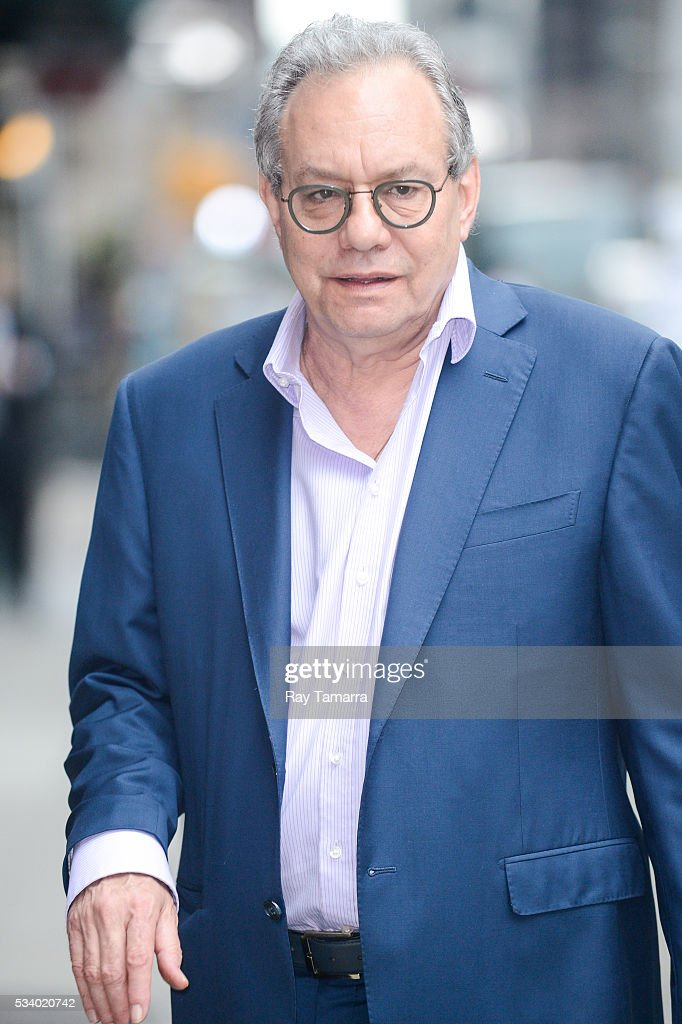 Comedian Lewis Black enters 'The Late Show With Stephen Colbert' taping at the Ed Sullivan Theater on May 24, 2016 in New York City.