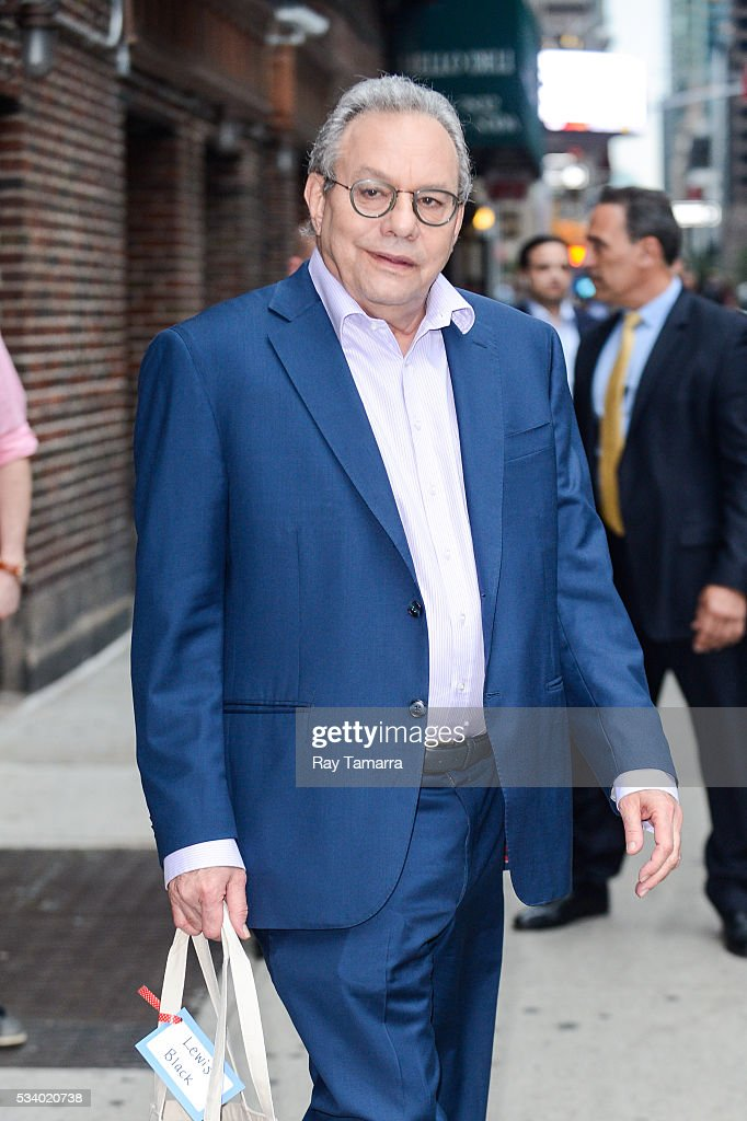 Comedian Lewis Black leaves 'The Late Show With Stephen Colbert' taping at the Ed Sullivan Theater on May 24, 2016 in New York City.