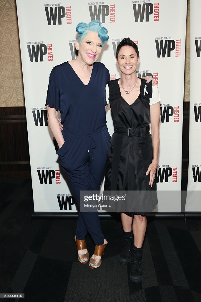 Comedian Lisa Lampanelli and actress Beth Malone attend the WP Theater Women of Achievement Awards Gala at Edison Ballroom on June 13 2016 in New...