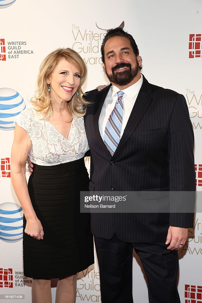 Comedian Lisa Lampanelli and Jimmy Cannizzaro attend the 65th annual Writers Guild East Coast Awards at B.B. King Blues Club & Grill on February 17, 2013 in New York City.