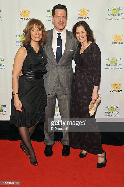 Comedian Lizz Winstead television journalist Thomas Roberts and actress Ally Sheedy attend the PFLAG National Straight For Equality Awards at...