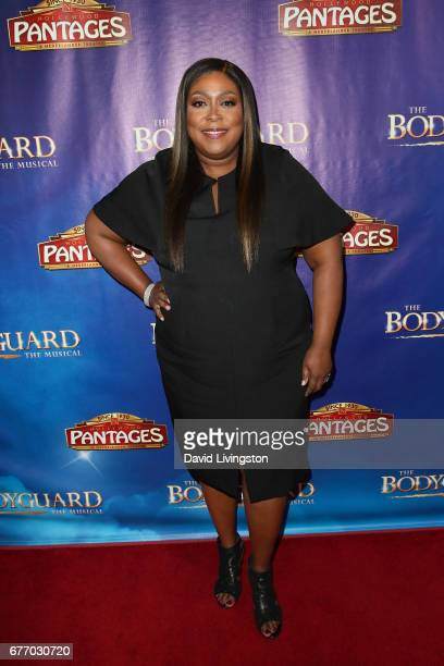 Comedian Loni Love arrives at the premiere of 'The Bodyguard' at the Pantages Theatre on May 2 2017 in Hollywood California