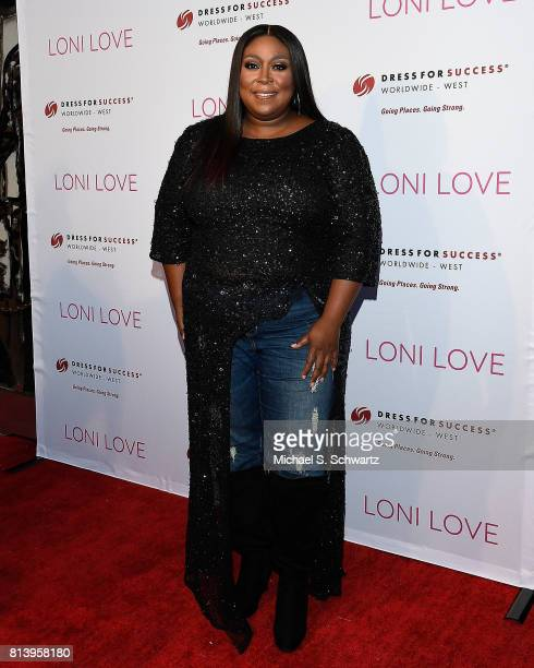 Comedian Loni Love attends Loni Love's Birthday Roast benefiting the Dress For Success charity at Hollywood Improv on July 12 2017 in Hollywood...