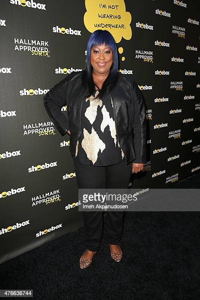 Comedian Loni Love attends Shoebox's 29th Birthday Celebration hosted by Rob Riggle at The Improv on June 10 2015 in Hollywood California