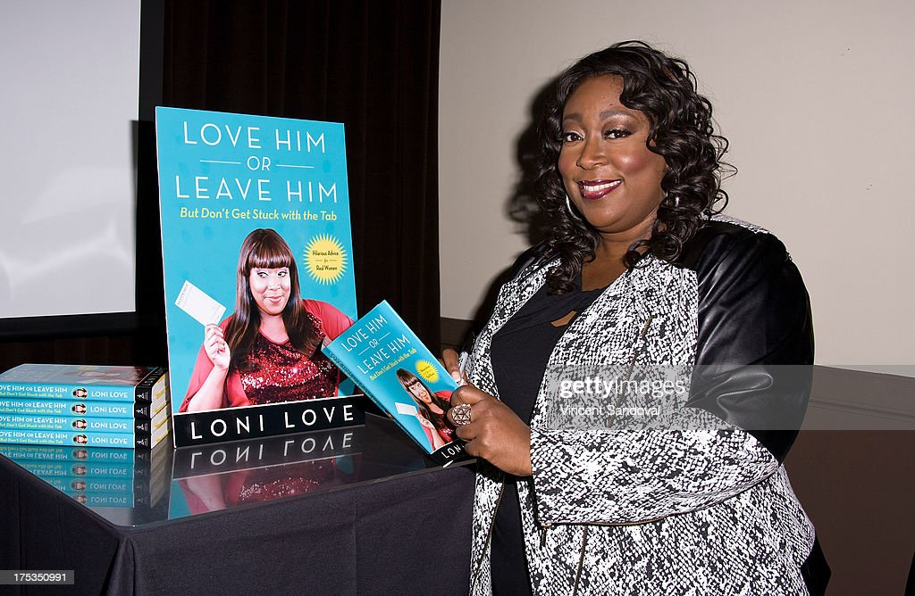 Comedian Loni Love attends the launch of her new book 'Love Him or Leave Him' at Hollywood Improv on August 2 2013 in Hollywood California