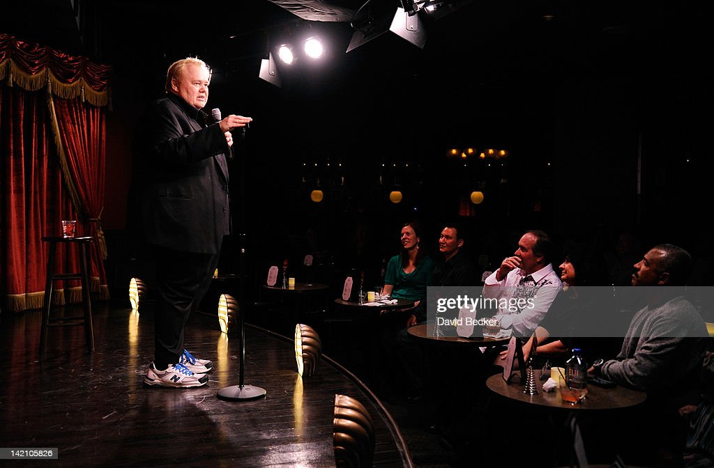 Comedian Louie Anderson performs at grand opening Brad Garrett's Comedy Club at the MGM Grand Hotel/Casino on March 29 2012 in Las Vegas Nevada