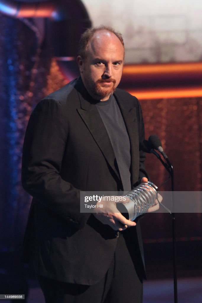 Comedian Louis C.K. accepts the 'Person of the Year' Webby award at the 16th Annual Webby Awards at Hammerstein Ballroom on May 21, 2012 in New York City.