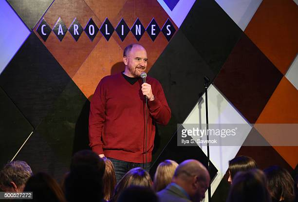 Comedian Louis CK attends Cool Comedy Hot Cuisine A Benefit For The Scleroderma Research Foundation at Carolines On Broadway on December 8 2015 in...