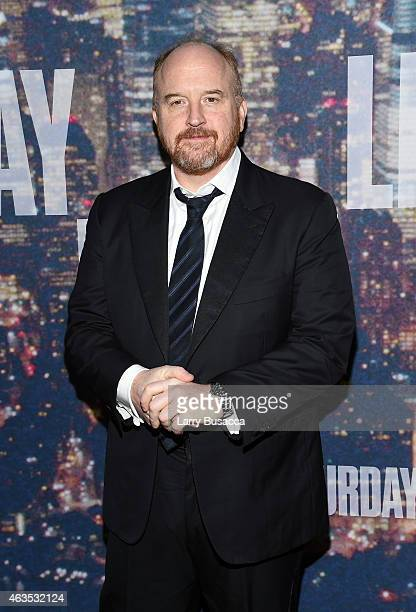 Comedian Louis CK attends SNL 40th Anniversary Celebration at Rockefeller Plaza on February 15 2015 in New York City