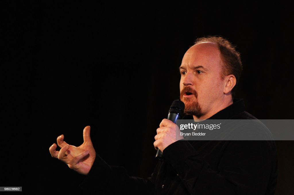 Comedian <a gi-track='captionPersonalityLinkClicked' href=/galleries/search?phrase=Louis+C.K.&family=editorial&specificpeople=2538284 ng-click='$event.stopPropagation()'>Louis C.K.</a> attends the George Carlin Tribute hosted by Whoopi Goldberg at the New York Public Library - Celeste Bartos Forum on March 24, 2010 in New York City.
