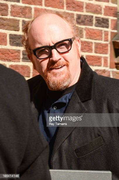 Comedian Louis CK enters the 'Late Show With David Letterman' taping at the Ed Sullivan Theater on April 3 2013 in New York City