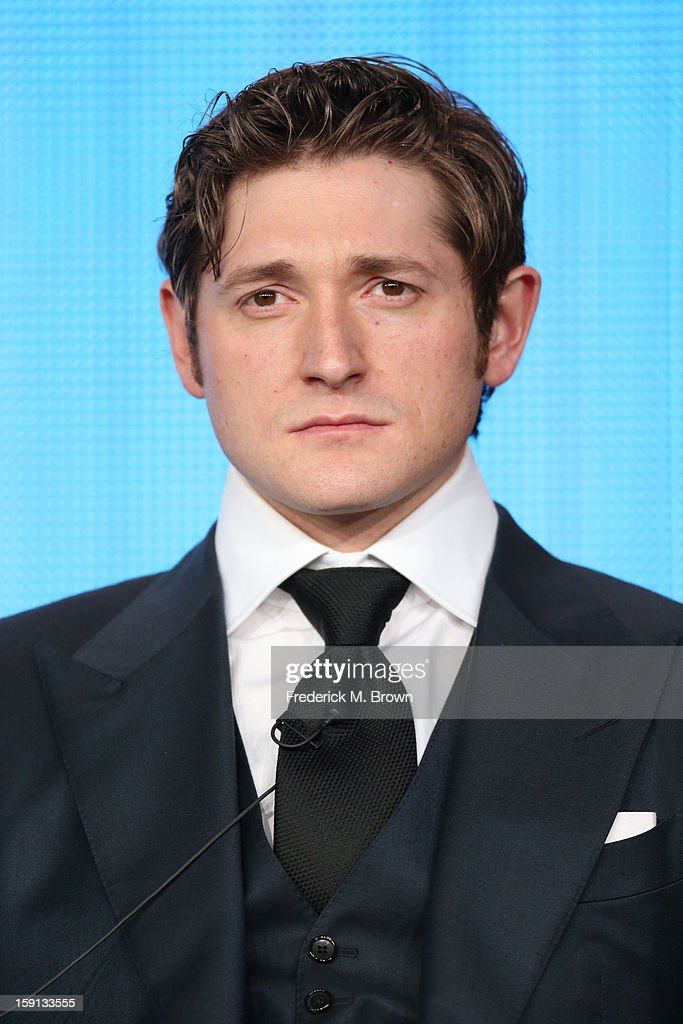 Comedian Lucas Neff 'Raising Hope' speaks onstage during the FOX portion of the 2013 Winter TCA Tour at Langham Hotel on January 8, 2013 in Pasadena, California.