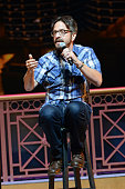 Comedian Marc Maron performs onstage at Sarah's Pro Choice hosted by Sarah Silverman with Reggie Watts Natasha Leggero Marc Maron and Kyle Dunnigan...