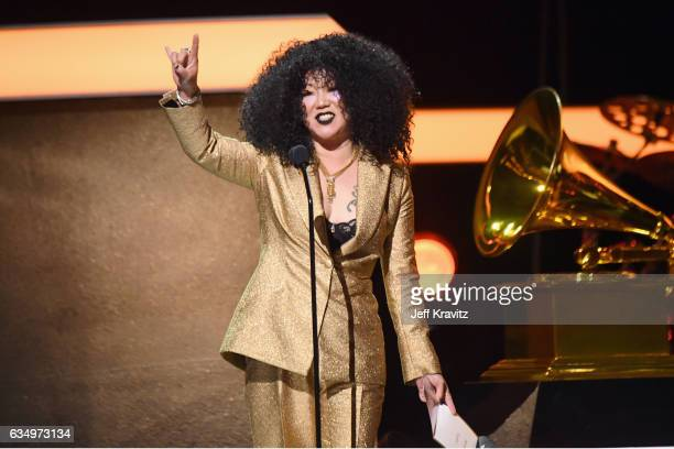 Comedian Margaret Cho speaks onstage at the Premiere Ceremony during the 59th GRAMMY Awards at Microsoft Theater on February 12 2017 in Los Angeles...