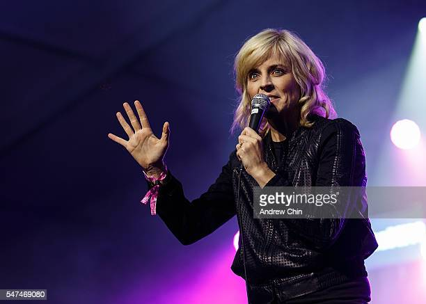 Comedian Maria Bamford speaks onstage during day 1 of Pemberton Music Festival on July 14 2016 in Pemberton Canada