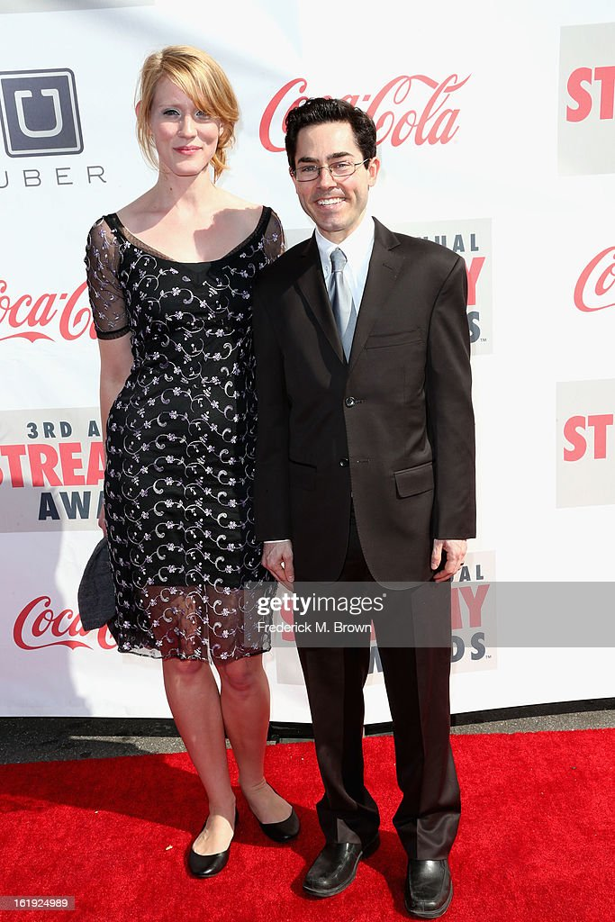 Comedian Mark Malkoff (R) attends the 3rd Annual Streamy Awards at Hollywood Palladium on February 17, 2013 in Hollywood, California.