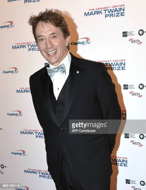 Comedian Martin Short arrives for the 20th Annual Mark Twain Prize for American Humor honoring former talk show host David Letterman at the Kennedy...