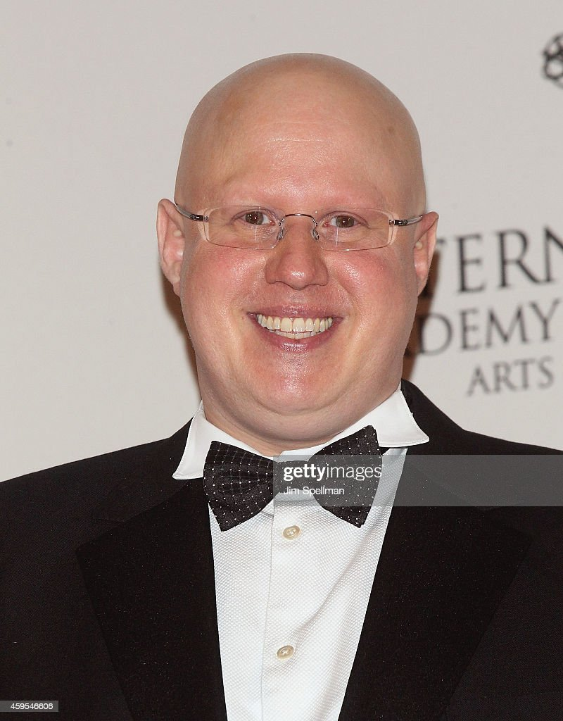 Comedian <a gi-track='captionPersonalityLinkClicked' href=/galleries/search?phrase=Matt+Lucas+-+Comedian&family=editorial&specificpeople=204202 ng-click='$event.stopPropagation()'>Matt Lucas</a> poses in the press room at the 2014 International Academy Of Television Arts & Sciences Awards at New York Hilton on November 24, 2014 in New York City.